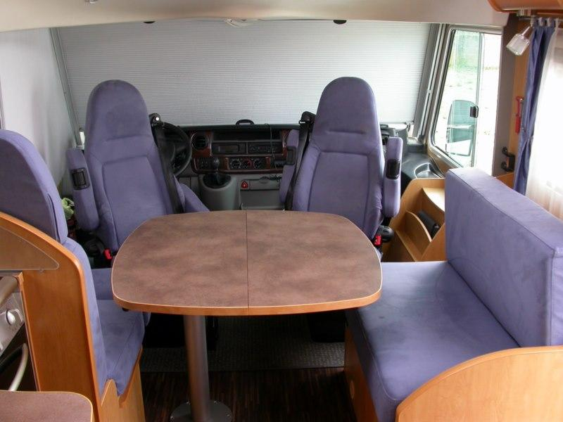 Vend camping car int gral pilote g 735 r f rence vente - Camping car occasion avec lit jumeaux ...